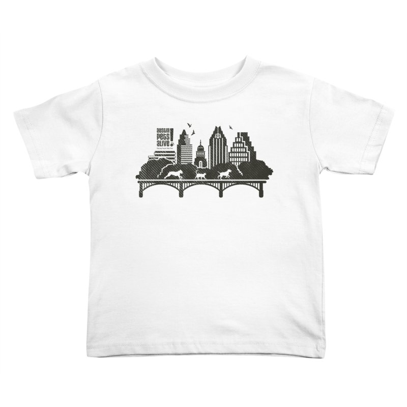 Pet Party on the Austin Skyline Kids Toddler T-Shirt by austinpetsalive's Artist Shop