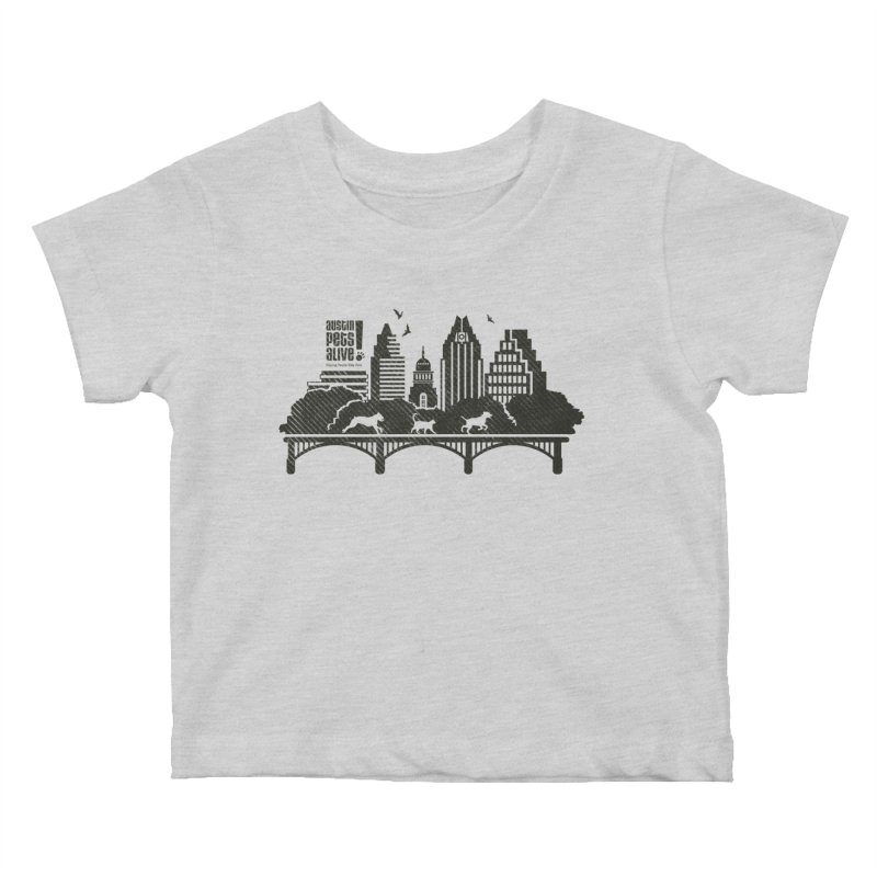 Pet Party on the Austin Skyline Kids Baby T-Shirt by Austin Pets Alive's Artist Shop