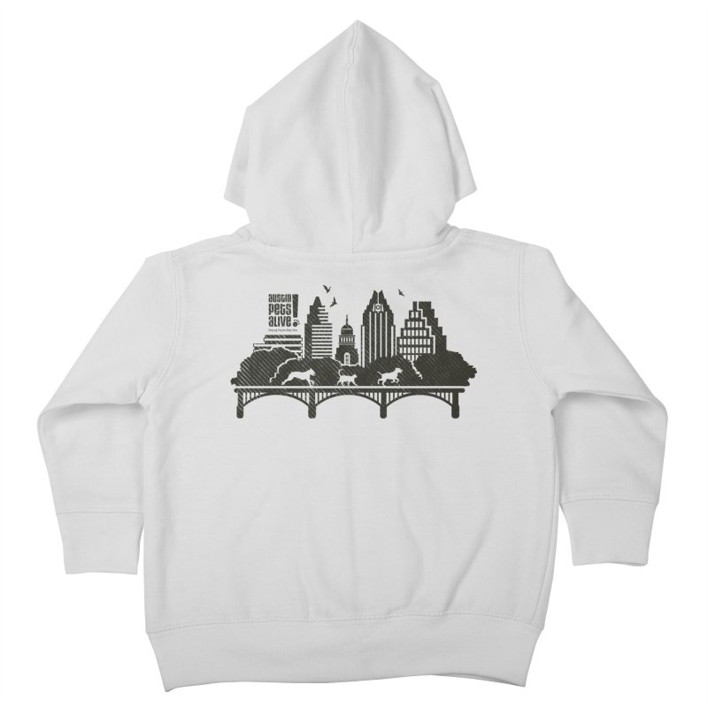 Pet Party on the Austin Skyline Kids Toddler Zip-Up Hoody by Austin Pets Alive's Artist Shop