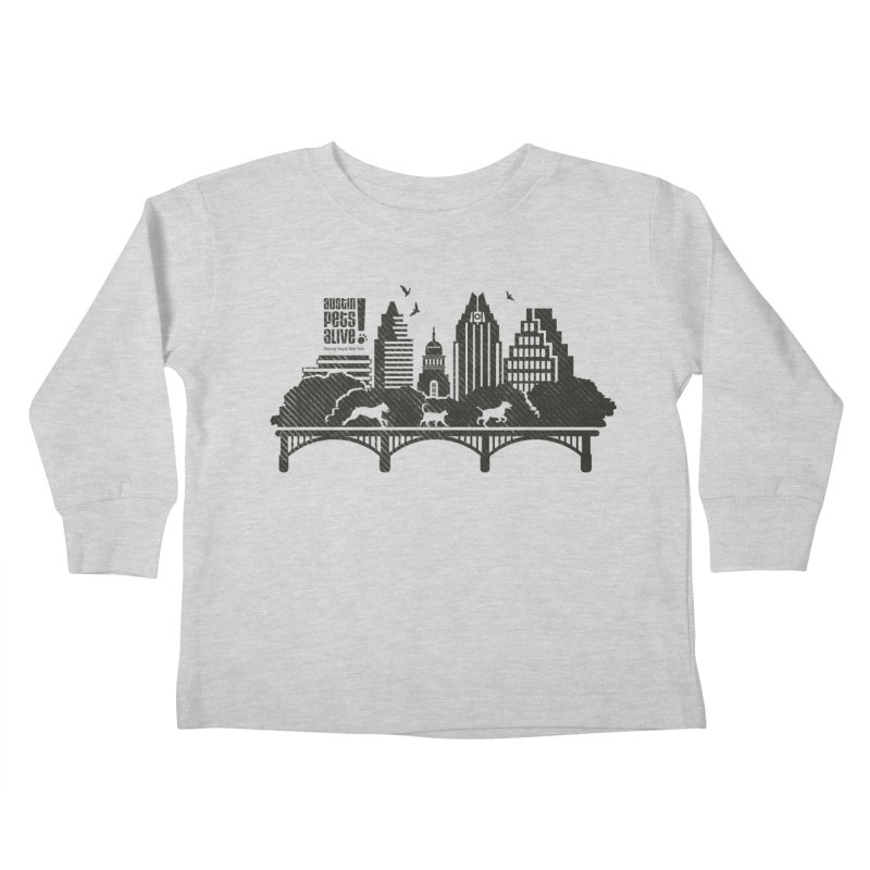 Pet Party on the Austin Skyline Kids Toddler Longsleeve T-Shirt by Austin Pets Alive's Artist Shop