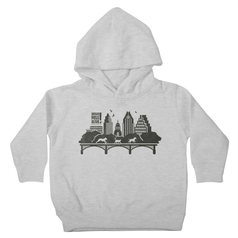 Pet Party on the Austin Skyline Kids Toddler Pullover Hoody by Austin Pets Alive's Artist Shop