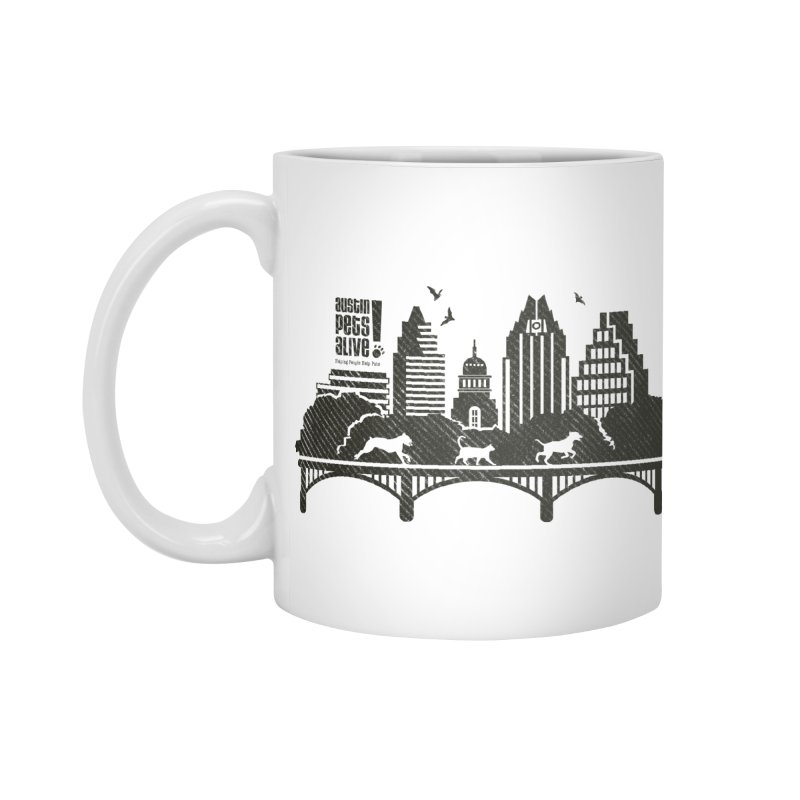 Pet Party on the Austin Skyline Accessories Mug by Austin Pets Alive's Artist Shop