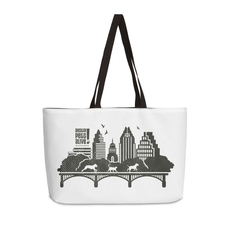 Pet Party on the Austin Skyline Accessories Weekender Bag Bag by Austin Pets Alive's Artist Shop