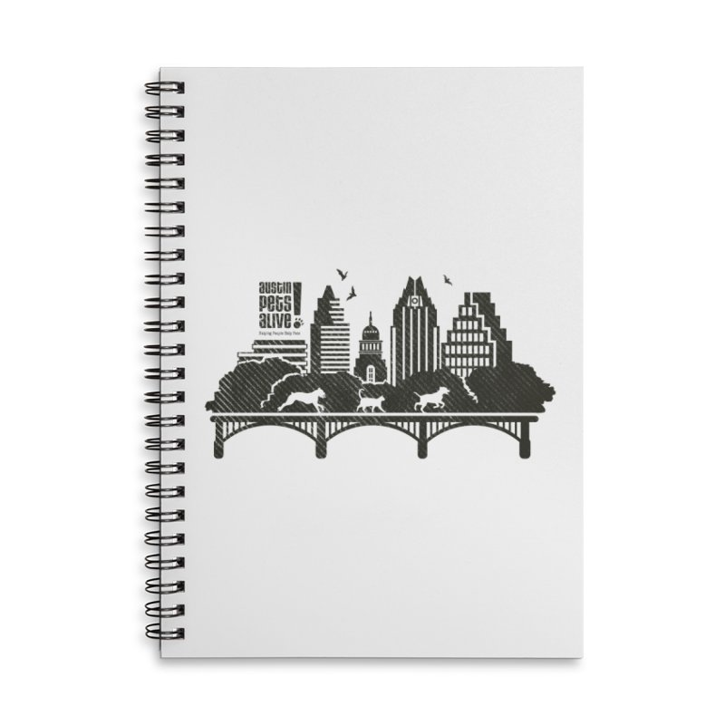Pet Party on the Austin Skyline Accessories Notebook by Austin Pets Alive's Artist Shop