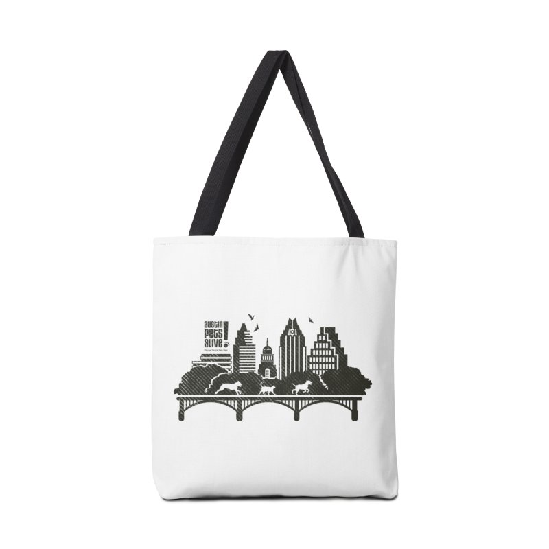 Pet Party on the Austin Skyline Accessories Tote Bag Bag by Austin Pets Alive's Artist Shop