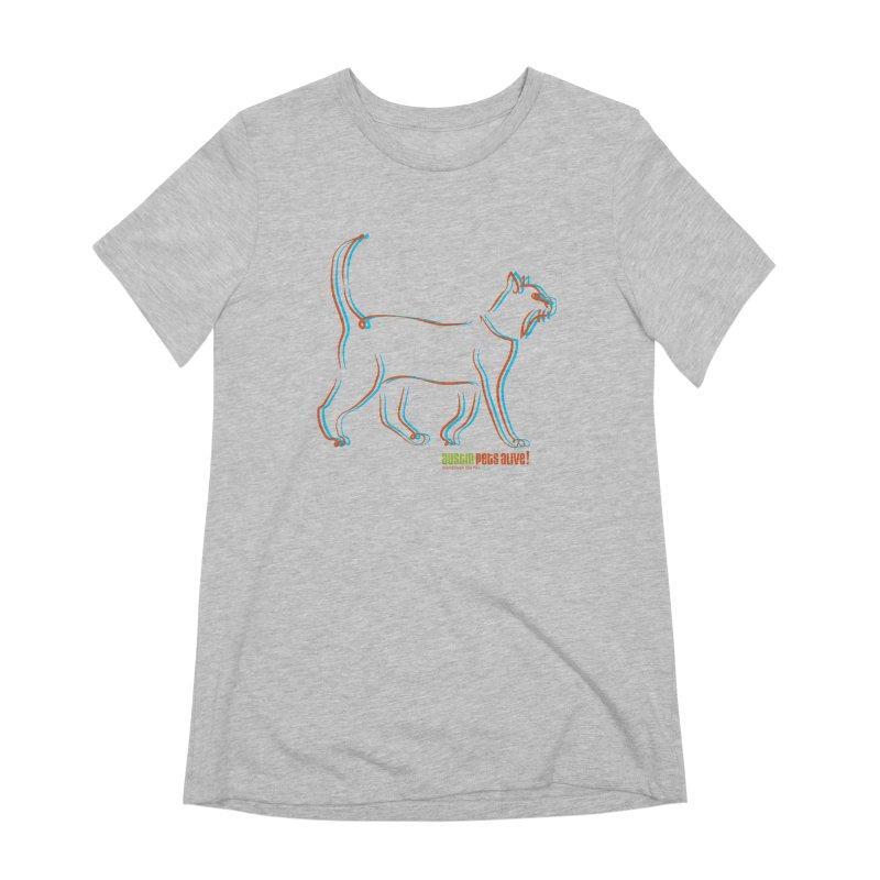 Totally Rad Contour Cat Women's Extra Soft T-Shirt by Austin Pets Alive's Artist Shop