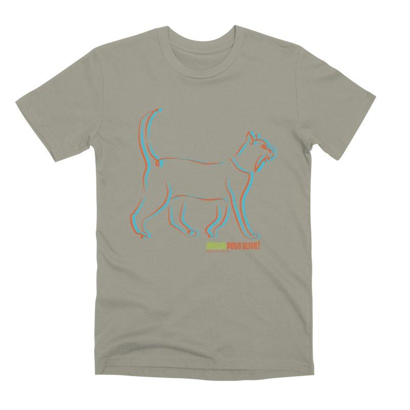 Totally Rad Contour Cat Men's Premium T-Shirt by austinpetsalive's Artist Shop