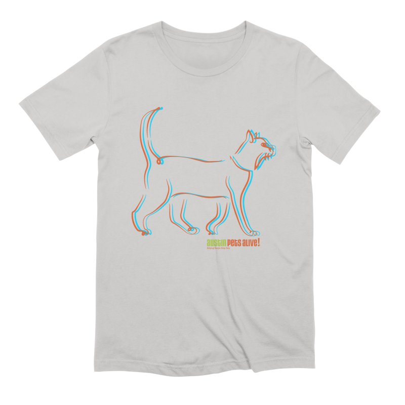 Totally Rad Contour Cat Men's Extra Soft T-Shirt by austinpetsalive's Artist Shop