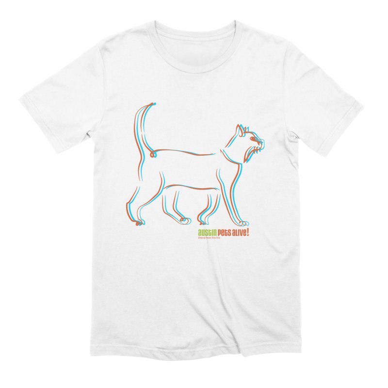 Totally Rad Contour Cat Men's Extra Soft T-Shirt by Austin Pets Alive's Artist Shop