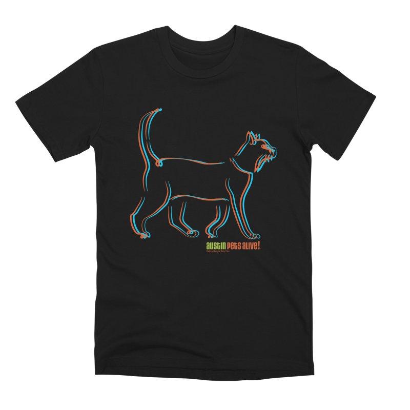 Totally Rad Contour Cat Men's Premium T-Shirt by Austin Pets Alive's Artist Shop