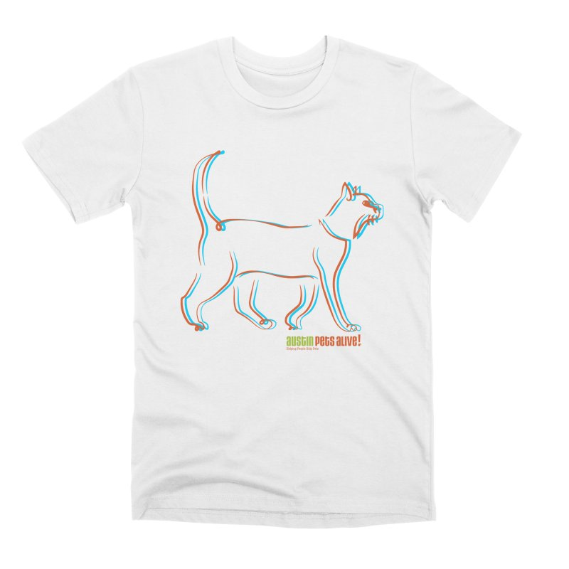 Totally Rad Contour Cat Men's T-Shirt by Austin Pets Alive's Artist Shop