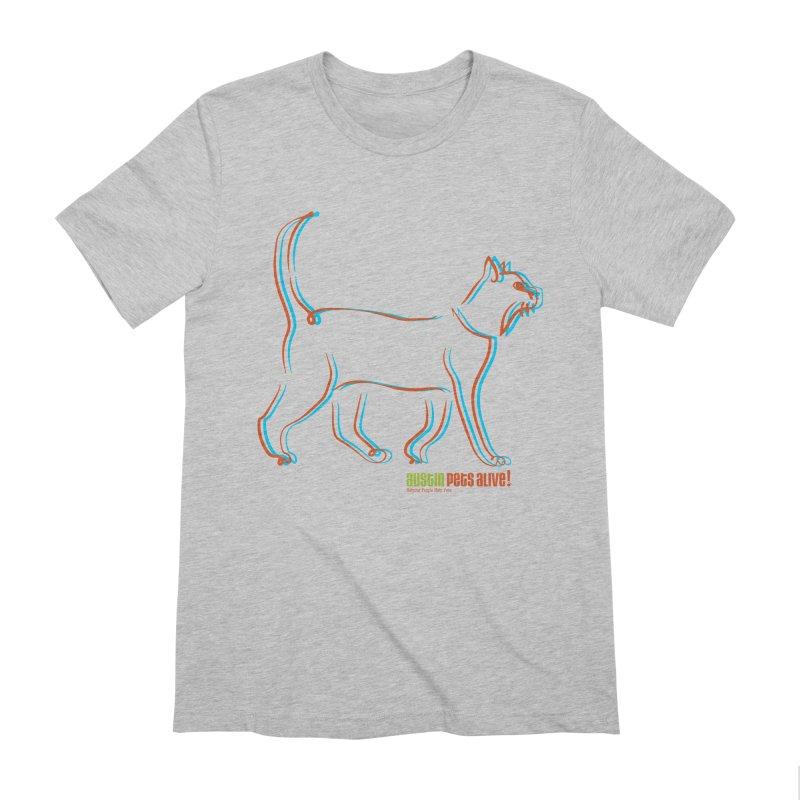 Totally Rad Contour Cat Men's Extra Soft T-Shirt by austinpetsalive's Artist Shop