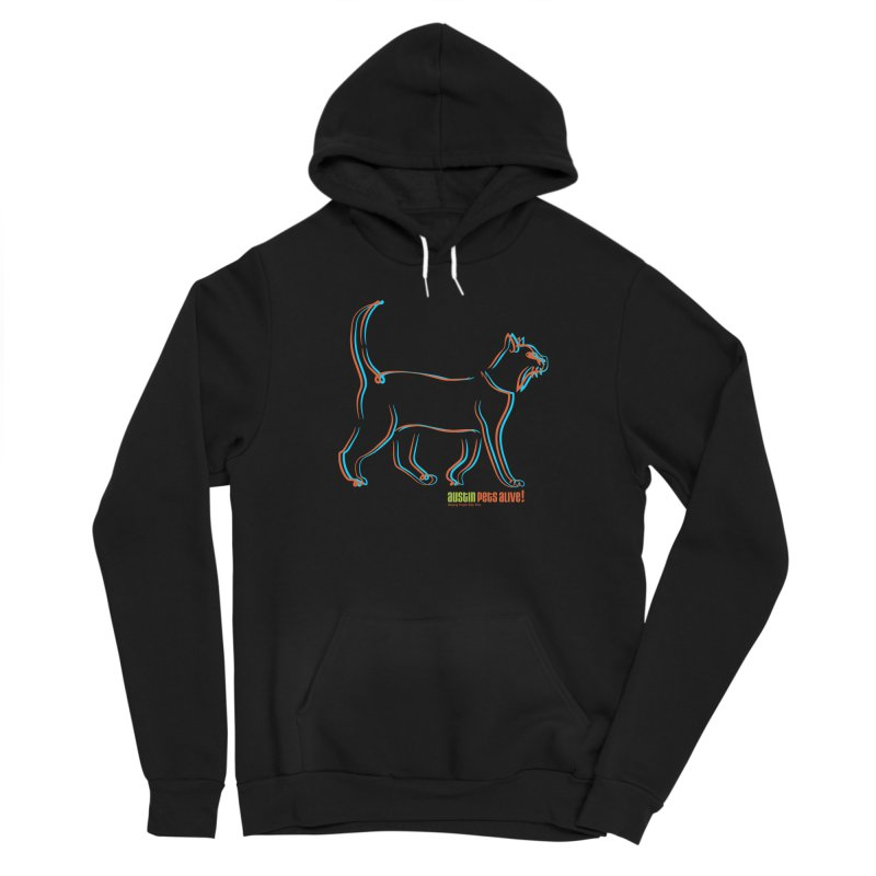 Totally Rad Contour Cat Women's Sponge Fleece Pullover Hoody by Austin Pets Alive's Artist Shop
