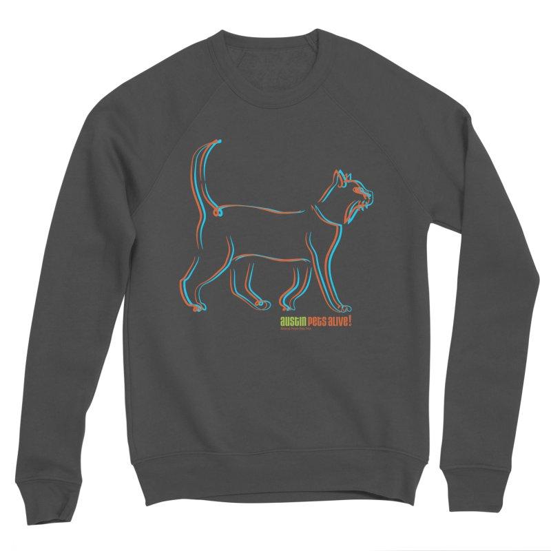 Totally Rad Contour Cat Men's Sponge Fleece Sweatshirt by Austin Pets Alive's Artist Shop