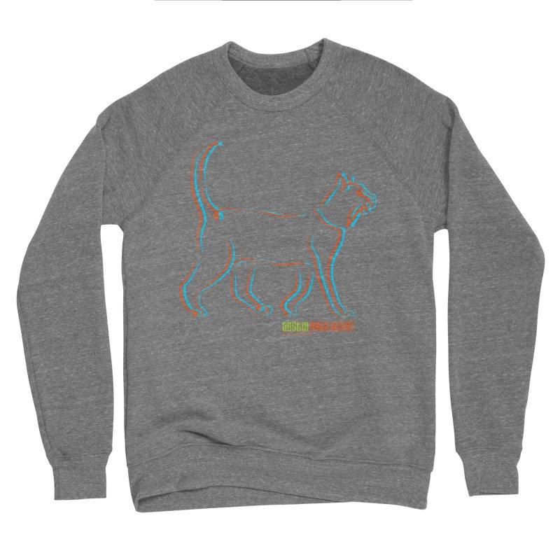 Totally Rad Contour Cat Men's Sponge Fleece Sweatshirt by austinpetsalive's Artist Shop