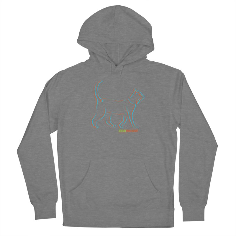 Totally Rad Contour Cat Women's Pullover Hoody by Austin Pets Alive's Artist Shop