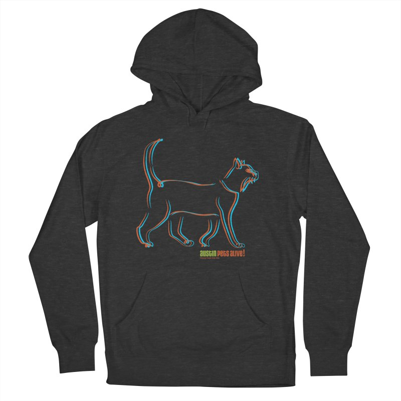 Totally Rad Contour Cat Men's French Terry Pullover Hoody by Austin Pets Alive's Artist Shop