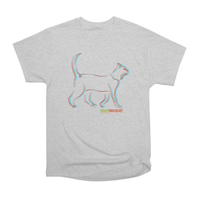 Totally Rad Contour Cat Men's Heavyweight T-Shirt by Austin Pets Alive's Artist Shop