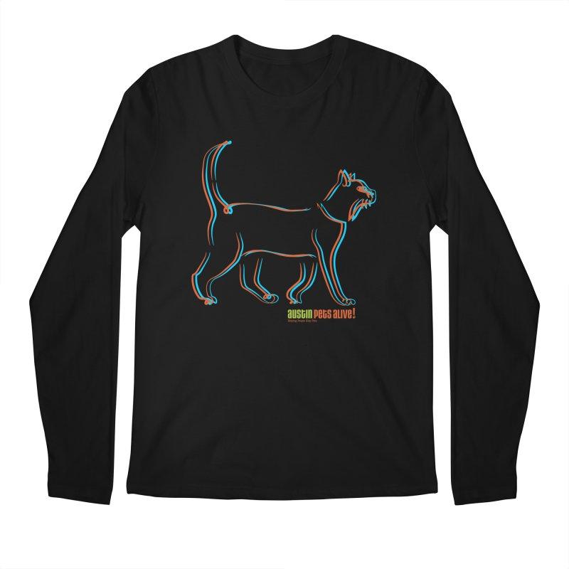 Totally Rad Contour Cat Men's Regular Longsleeve T-Shirt by austinpetsalive's Artist Shop