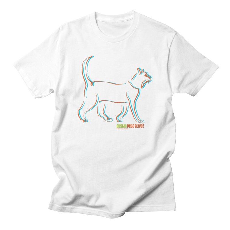 Totally Rad Contour Cat Men's T-Shirt by Austin Pets Alive's Artist Shop