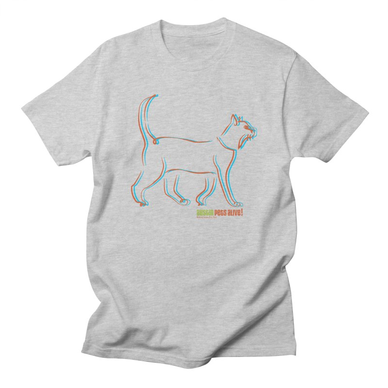 Totally Rad Contour Cat Men's Regular T-Shirt by Austin Pets Alive's Artist Shop