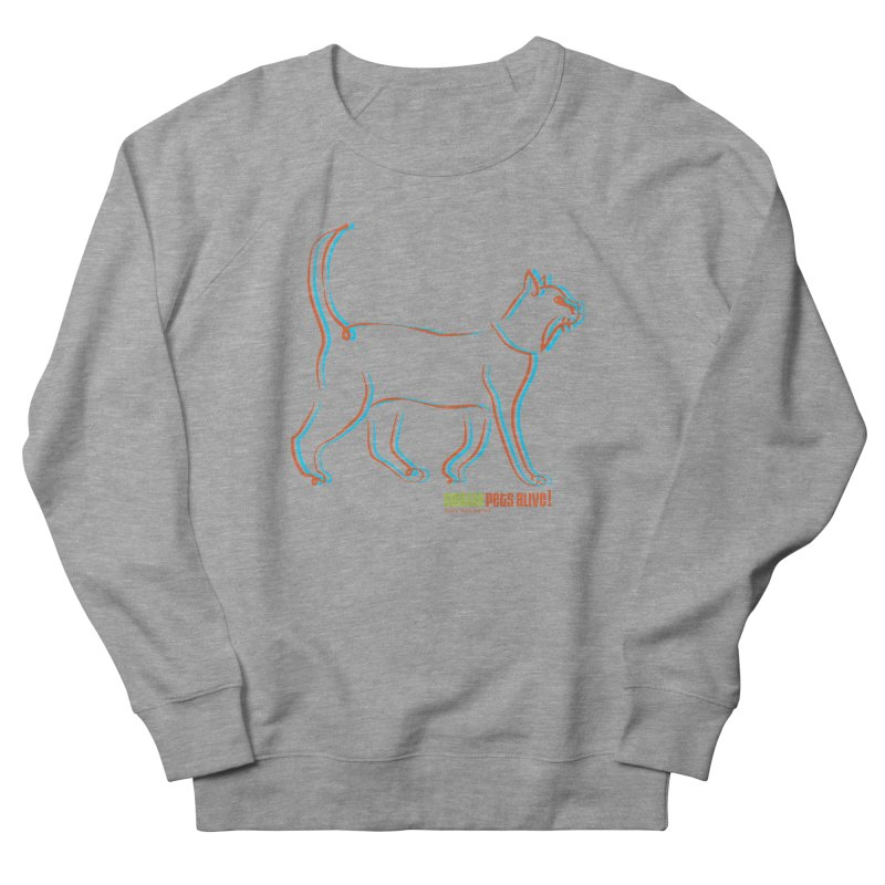 Totally Rad Contour Cat Women's French Terry Sweatshirt by Austin Pets Alive's Artist Shop
