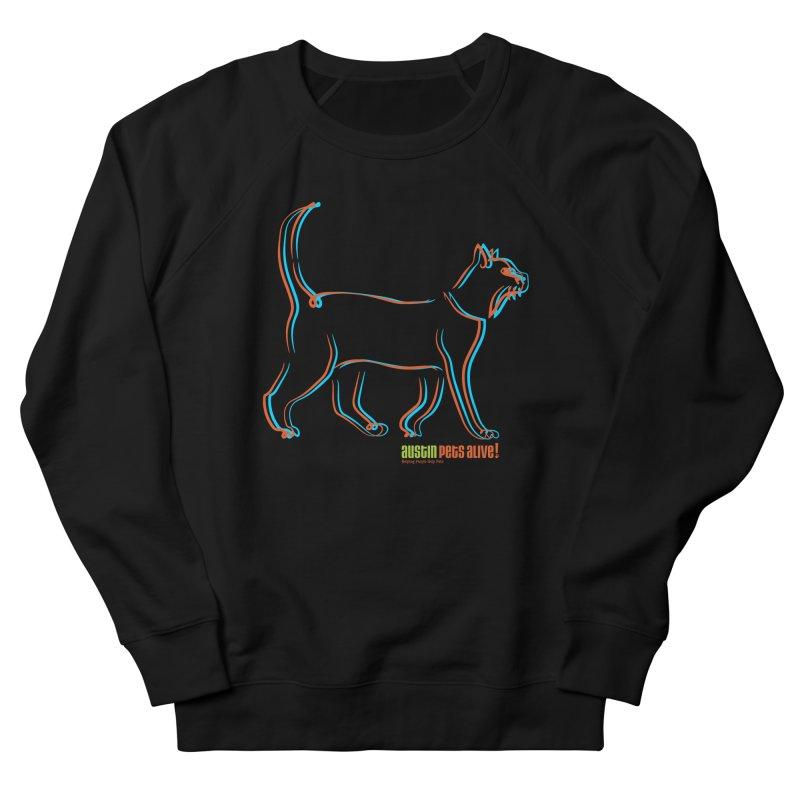 Totally Rad Contour Cat Men's French Terry Sweatshirt by austinpetsalive's Artist Shop