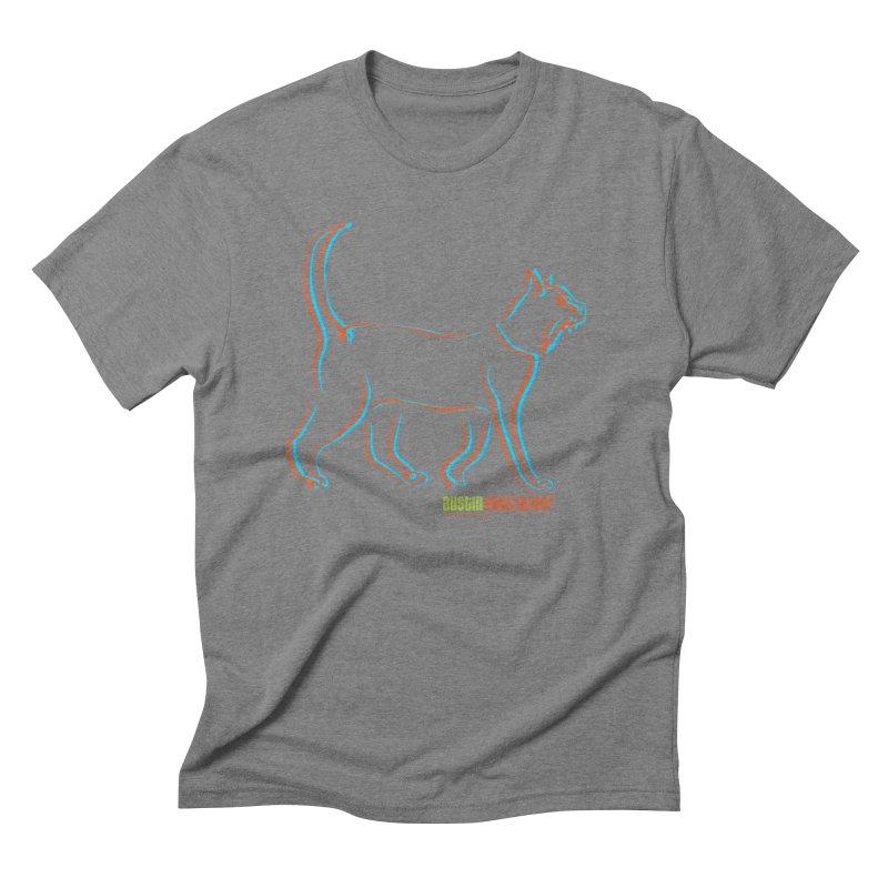 Totally Rad Contour Cat Men's Triblend T-Shirt by Austin Pets Alive's Artist Shop
