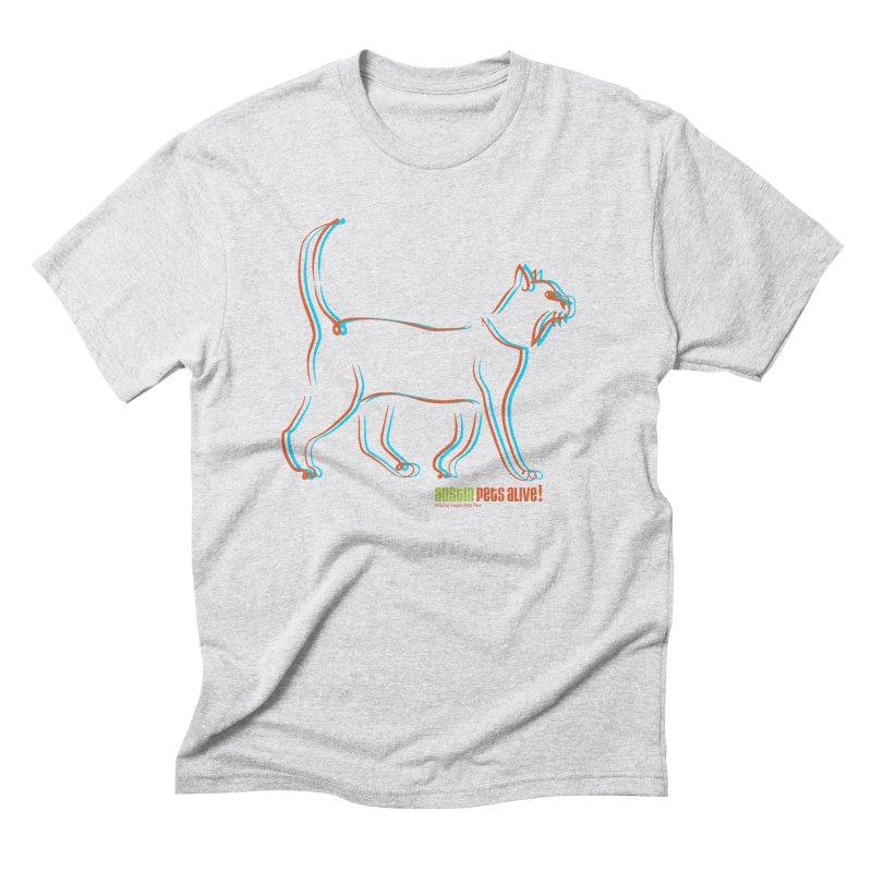 Totally Rad Contour Cat Men's Triblend T-Shirt by austinpetsalive's Artist Shop
