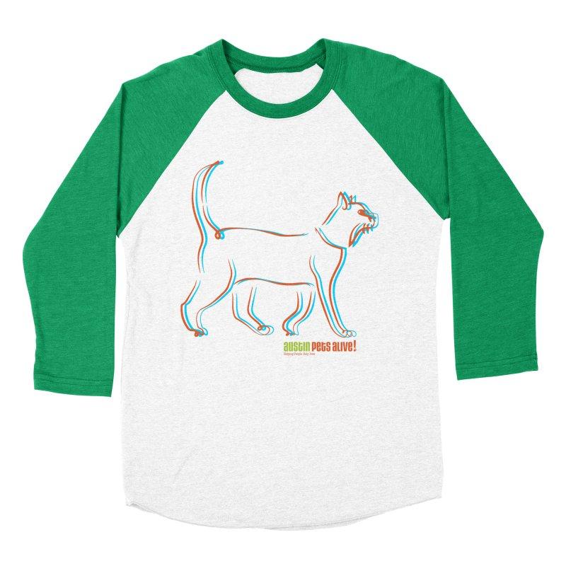 Totally Rad Contour Cat Women's Baseball Triblend Longsleeve T-Shirt by austinpetsalive's Artist Shop
