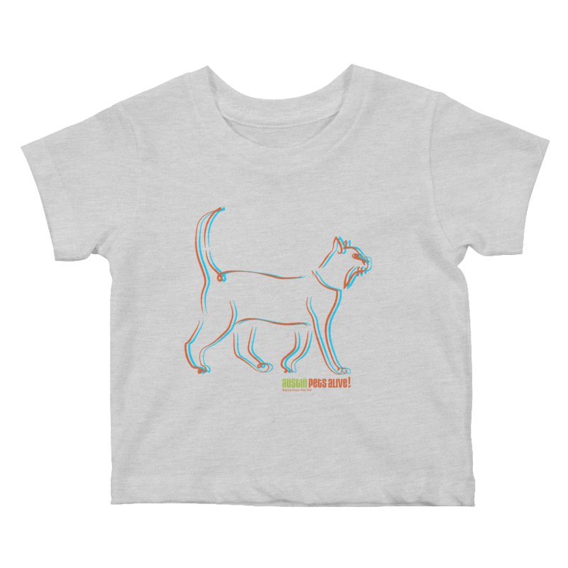 Totally Rad Contour Cat Kids Baby T-Shirt by Austin Pets Alive's Artist Shop