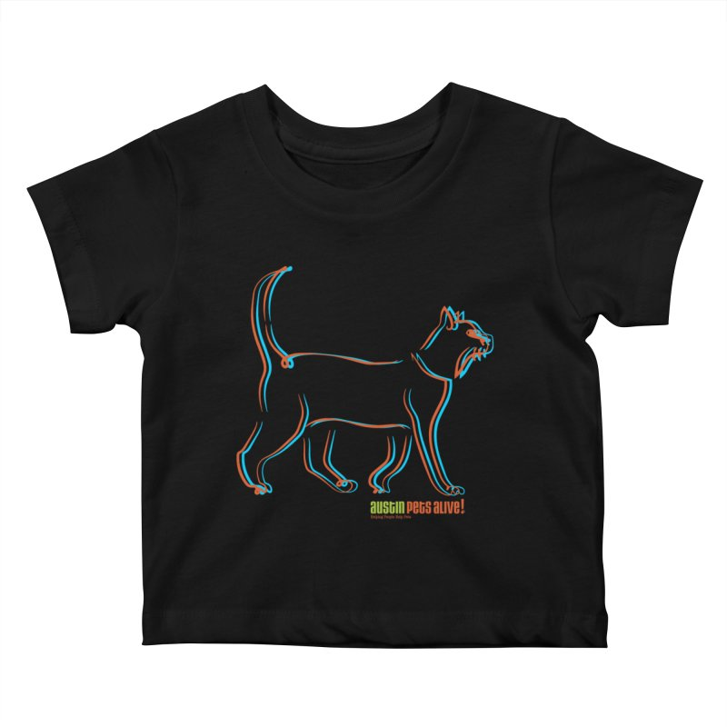 Totally Rad Contour Cat Kids Baby T-Shirt by austinpetsalive's Artist Shop