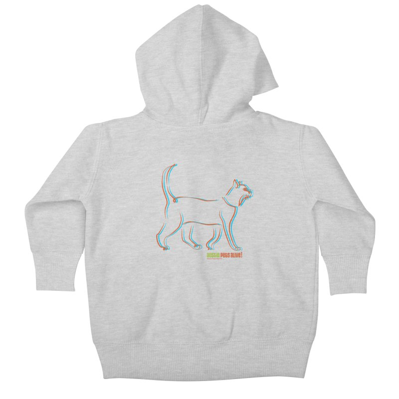 Totally Rad Contour Cat Kids Baby Zip-Up Hoody by Austin Pets Alive's Artist Shop