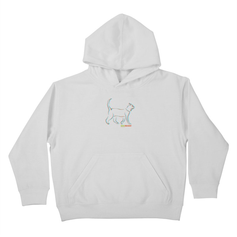 Totally Rad Contour Cat Kids Pullover Hoody by Austin Pets Alive's Artist Shop