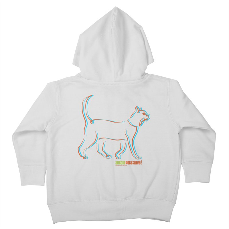 Totally Rad Contour Cat Kids Toddler Zip-Up Hoody by Austin Pets Alive's Artist Shop