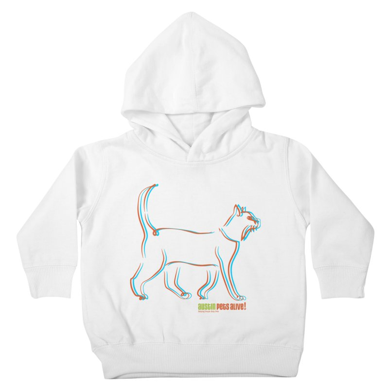 Totally Rad Contour Cat Kids Toddler Pullover Hoody by Austin Pets Alive's Artist Shop
