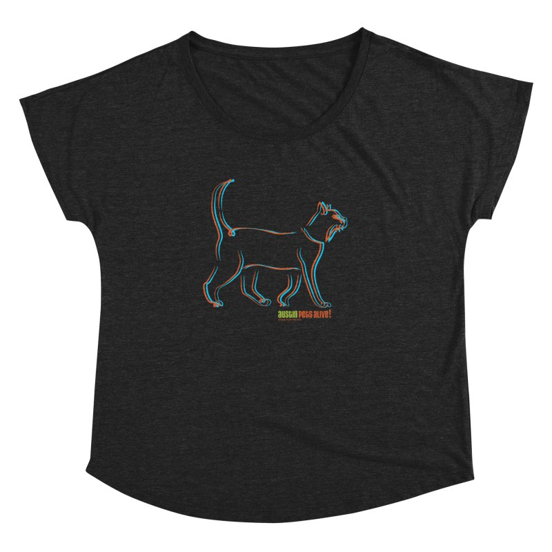 Totally Rad Contour Cat Women's Dolman Scoop Neck by Austin Pets Alive's Artist Shop
