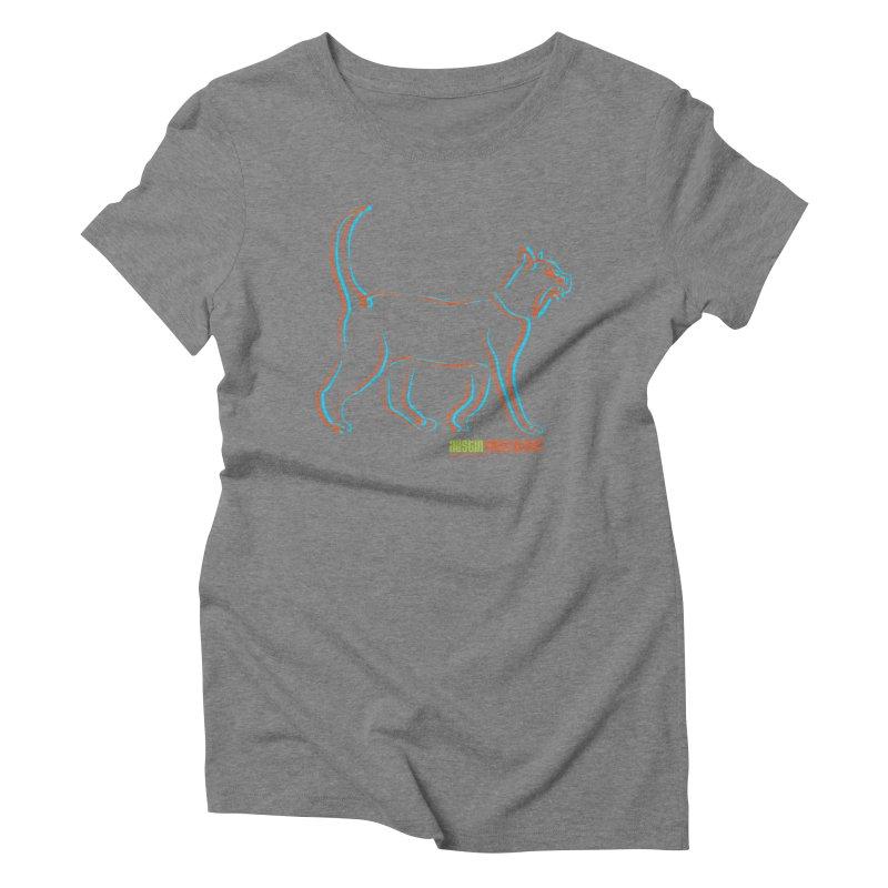 Totally Rad Contour Cat Women's Triblend T-Shirt by Austin Pets Alive's Artist Shop