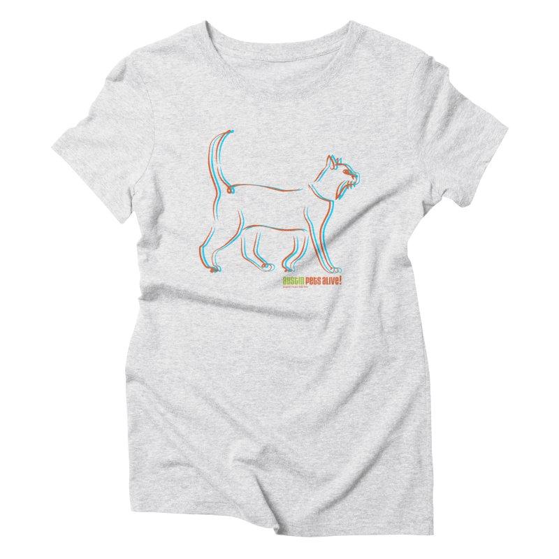 Totally Rad Contour Cat Women's T-Shirt by Austin Pets Alive's Artist Shop