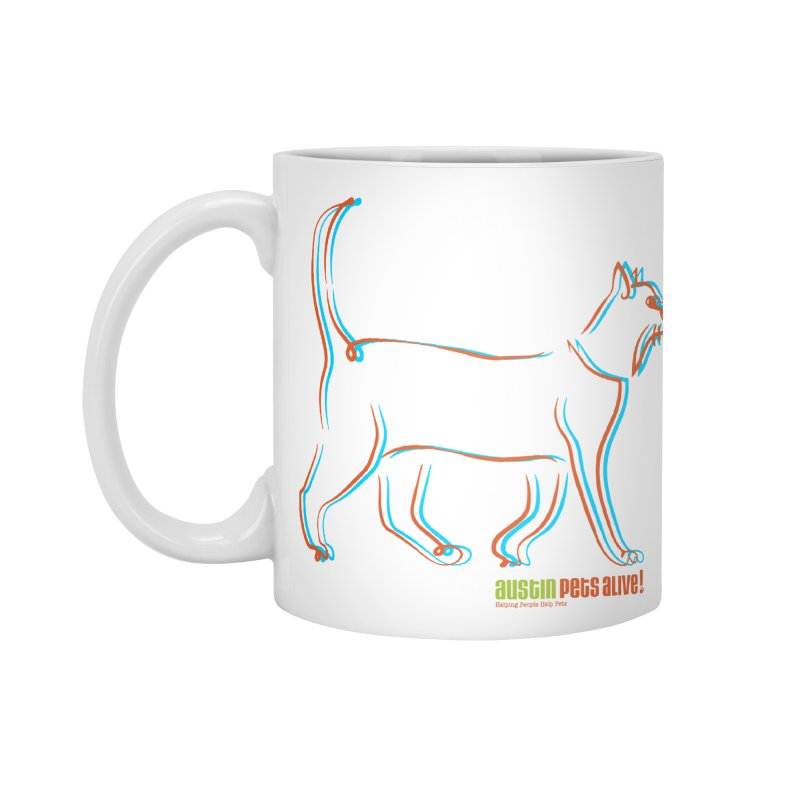 Totally Rad Contour Cat Accessories Standard Mug by Austin Pets Alive's Artist Shop