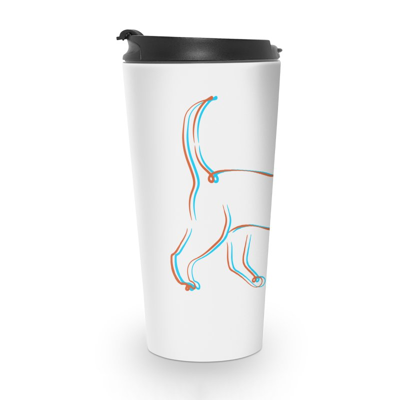 Totally Rad Contour Cat Accessories Travel Mug by Austin Pets Alive's Artist Shop