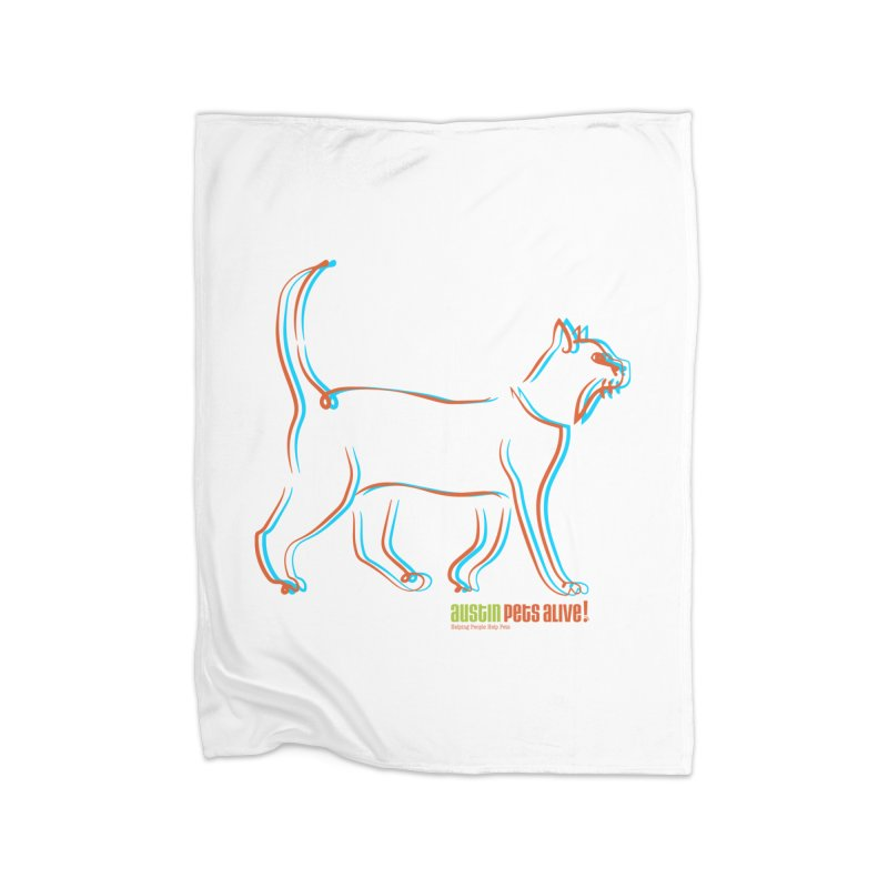 Totally Rad Contour Cat Home Blanket by Austin Pets Alive's Artist Shop