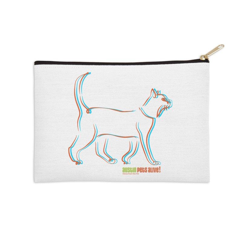 Totally Rad Contour Cat Accessories Zip Pouch by austinpetsalive's Artist Shop
