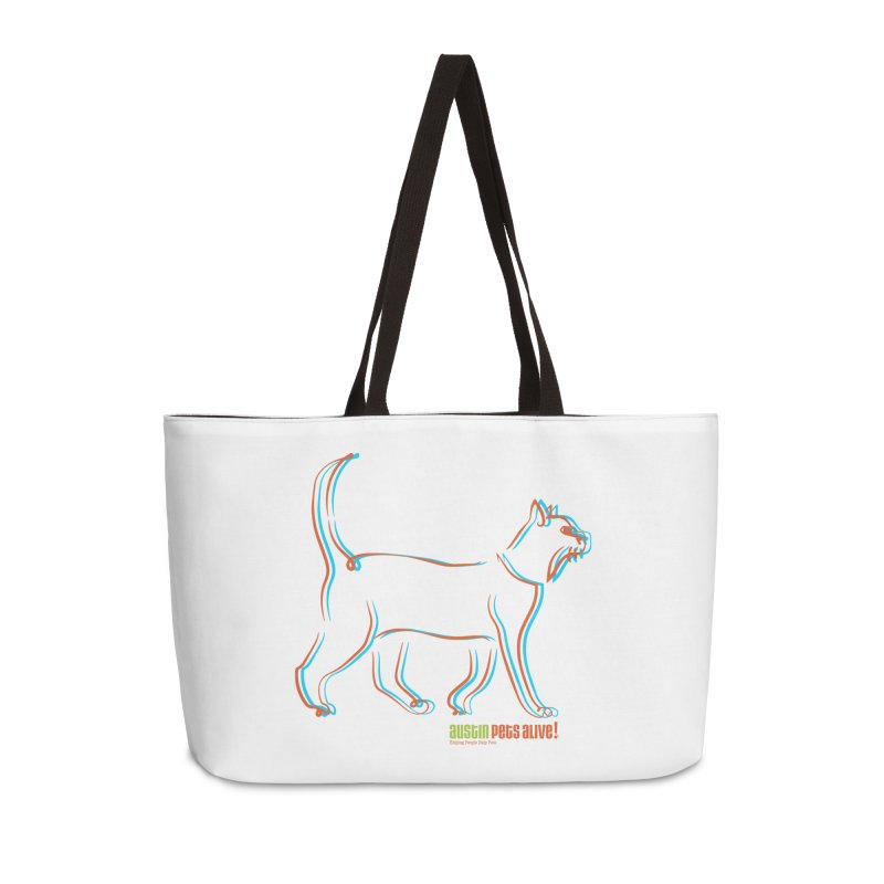 Totally Rad Contour Cat Accessories Weekender Bag Bag by Austin Pets Alive's Artist Shop