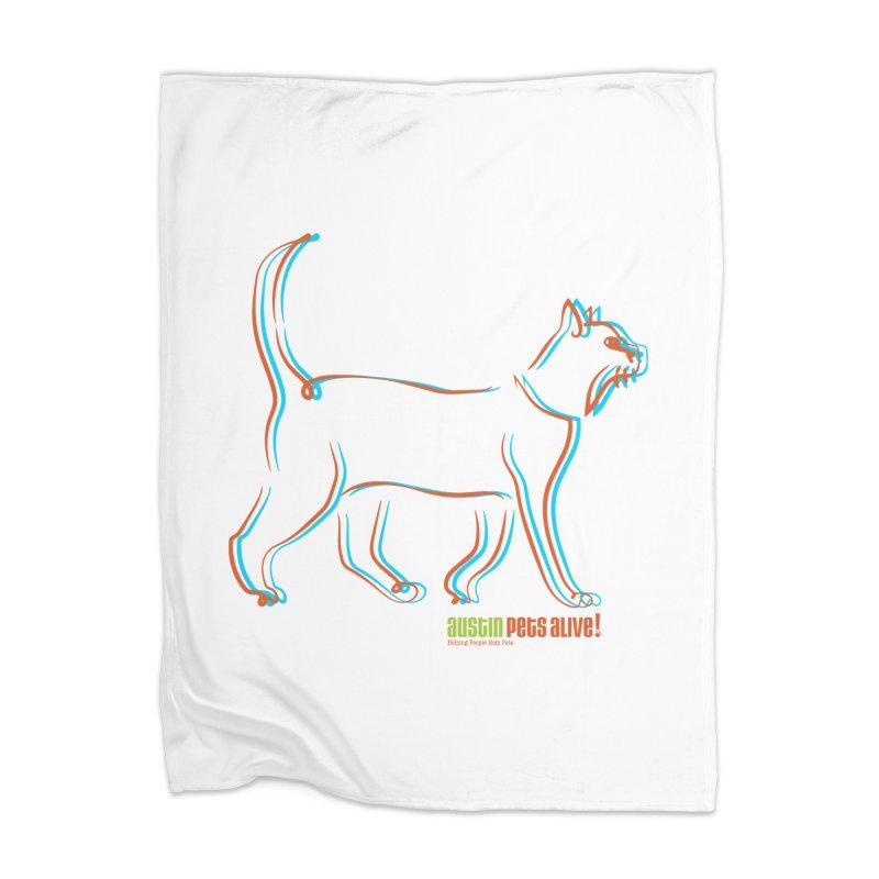 Totally Rad Contour Cat Home Blanket by Austin Pets Alive's Artist Shop