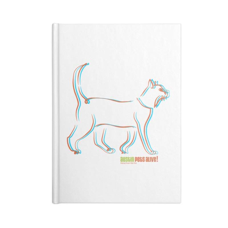 Totally Rad Contour Cat Accessories Lined Journal Notebook by Austin Pets Alive's Artist Shop