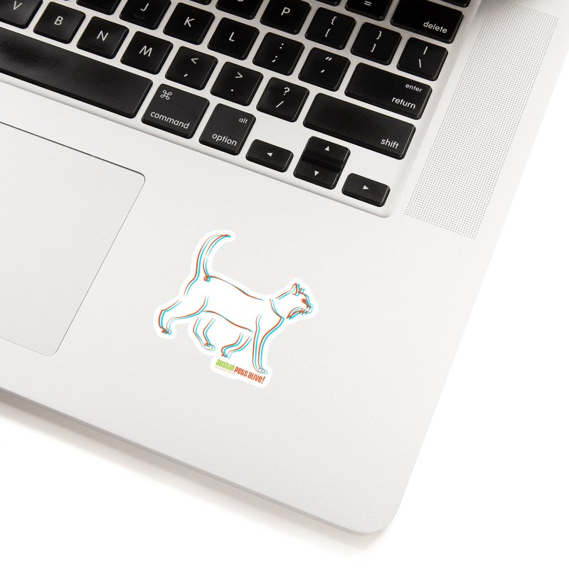 Totally Rad Contour Cat Accessories Sticker by Austin Pets Alive's Artist Shop