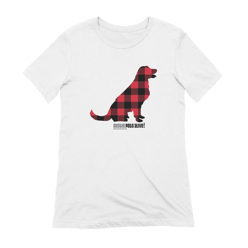 Dog in Plaid Women's Extra Soft T-Shirt by austinpetsalive's Artist Shop