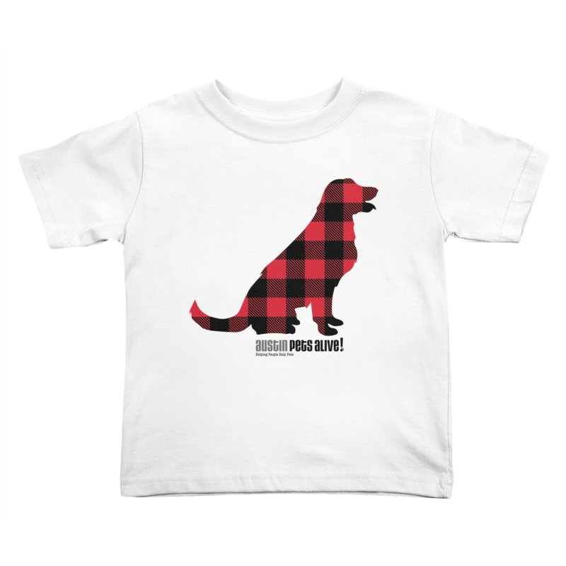 Dog in Plaid Kids Toddler T-Shirt by austinpetsalive's Artist Shop