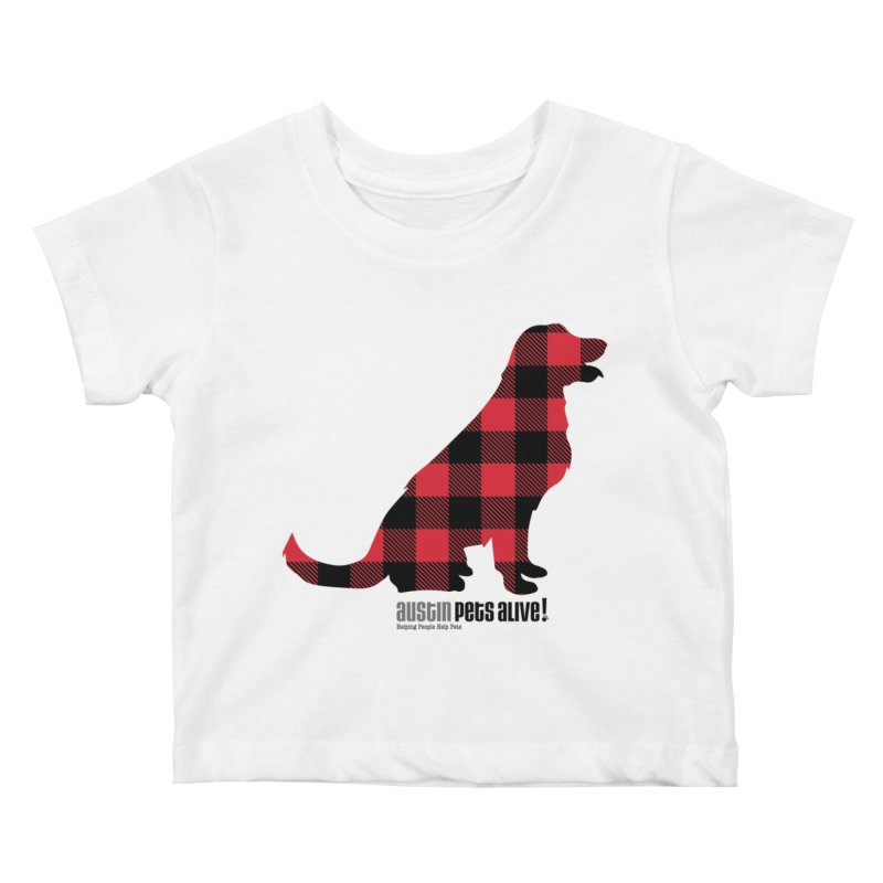 Dog in Plaid Kids Baby T-Shirt by austinpetsalive's Artist Shop